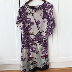 BCBGMaxAzria Asymmetrical silk dress